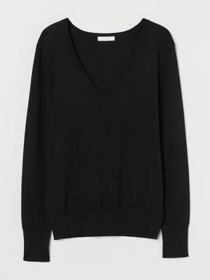 Пуловер чорний | 5679977