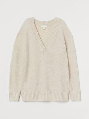 Пуловер світло-бежевий | 5680400