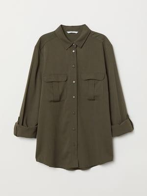 Рубашка цвета хаки | 5680697