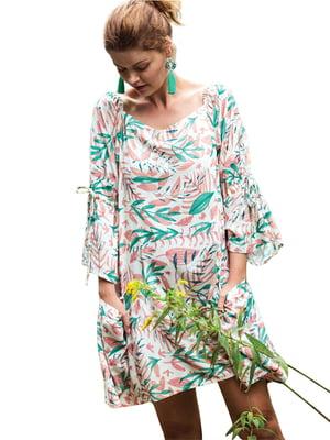 Рубашка ночная в растительный принт   5687868