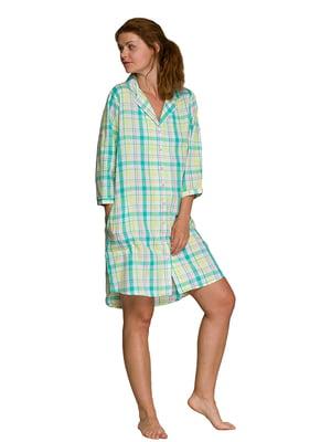 Рубашка ночная в клетку   5687873