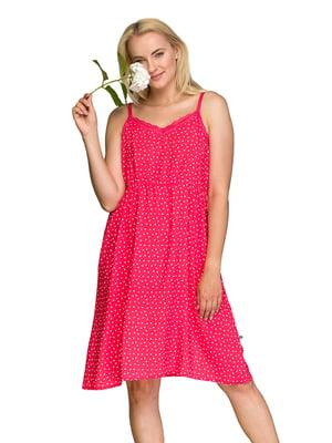 Рубашка ночная розового цвета в горошек   5687874