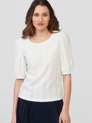 Блуза белая с узором   5686014