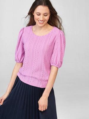 Блуза розового цвета с узором   5686015