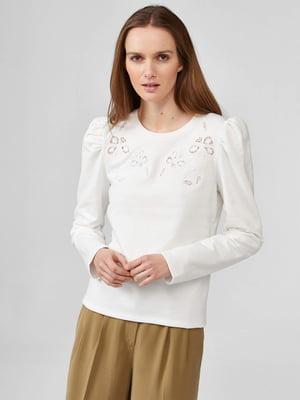 Блуза белая с узором   5686049