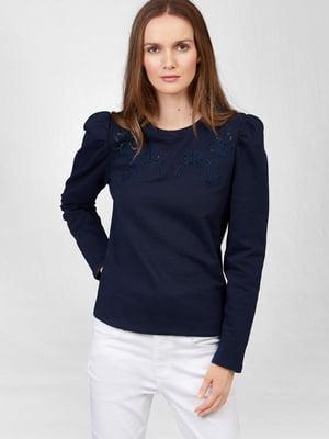 Блуза синяя с узором   5686050