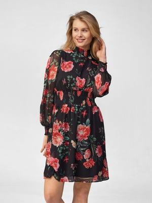 Платье черное в принт | 5686066