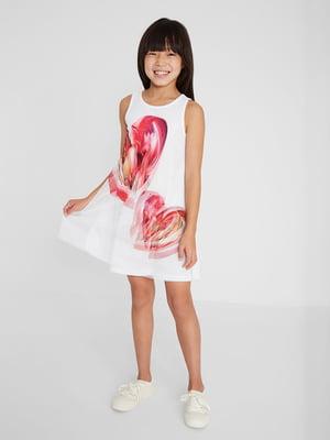 Сукня біла з принтом | 5686242