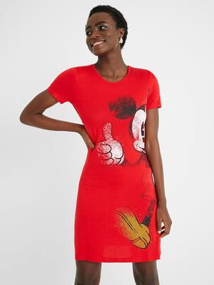 Платье красного цвета с принтом | 5686287