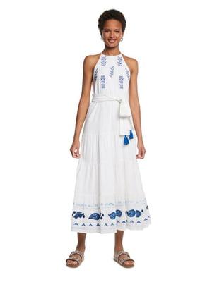 Сарафан белый с вышивкой-орнаментом | 5686289