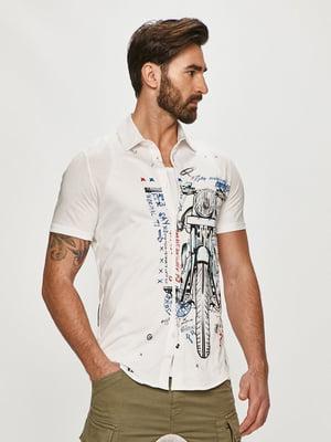 Рубашка белая с принтом | 5636028