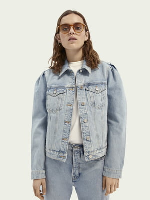 Куртка джинсова світло-синя | 5687476