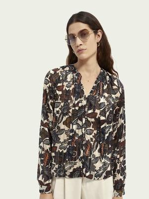 Блуза с цветочным принтом | 5687513