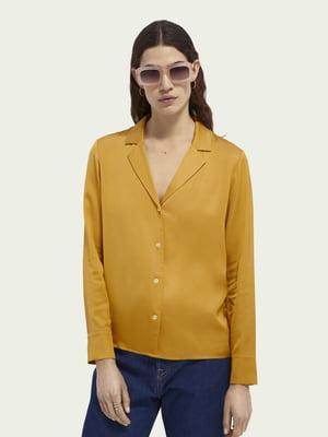 Рубашка горчичного цвета | 5687514