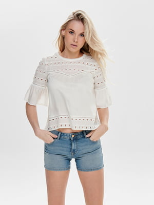 Блуза белая с узором   5687560