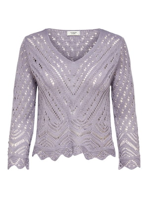 Пуловер сиреневого цвета с узором | 5687581