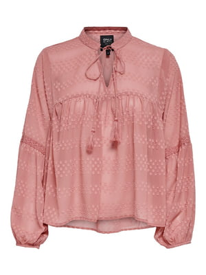 Блуза розового цвета с узором | 5687611