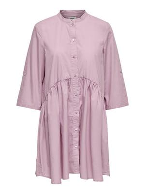 Сорочка-туніка бузкового кольору | 5687615