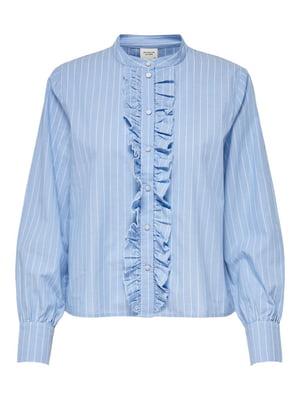 Сорочка блакитного кольору в смужку | 5687633