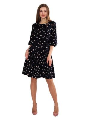 Платье черное в принт   5687974