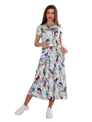 Платье белое в принт | 5687988