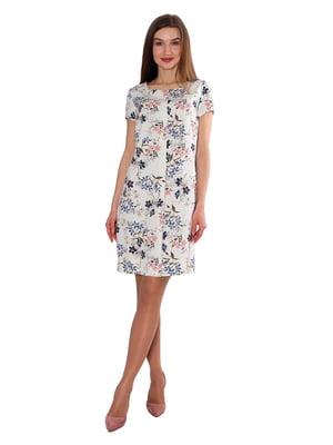 Сукня бежева у квітковий принт | 5687992