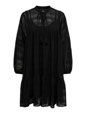 Платье черное с узором | 5687612