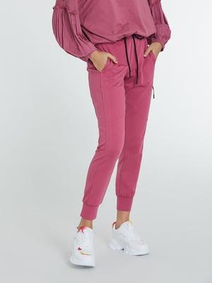 Брюки спортивные темно-розовые | 5686594