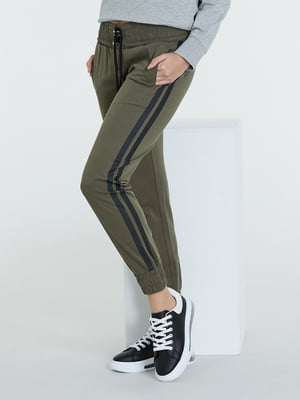 Штани спортивні кольору хакі | 5686631