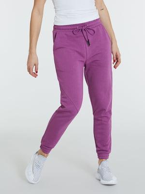 Штани спортивні бузкового кольору | 5686668
