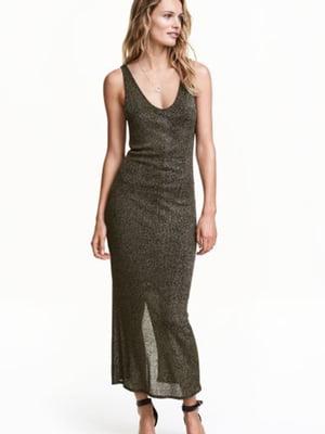 Сукня чорна з золотистим | 5688780