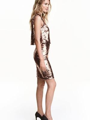Платье бронзового цвета | 5688856