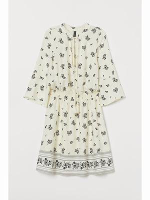 Платье белое в принт | 5689086