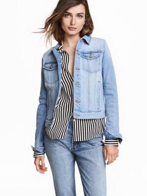 Куртка джинсова блакитна | 5689095