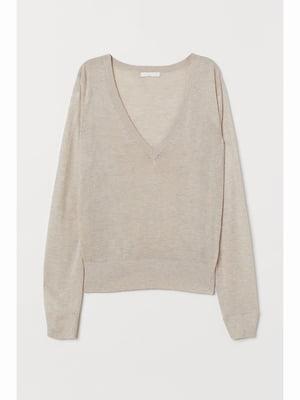 Пуловер світло-бежевий | 5689662