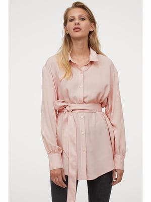 Рубашка пудрового цвета | 5689859