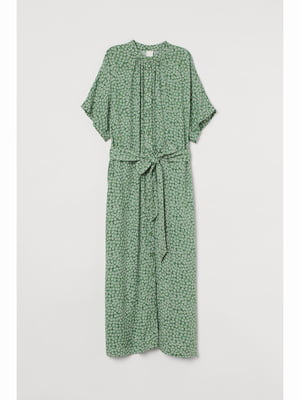 Платье зеленое в принт | 5690047