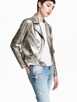 Куртка серебристого цвета   5690053