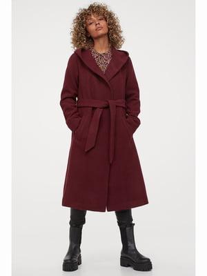 Пальто бордовое | 5690176