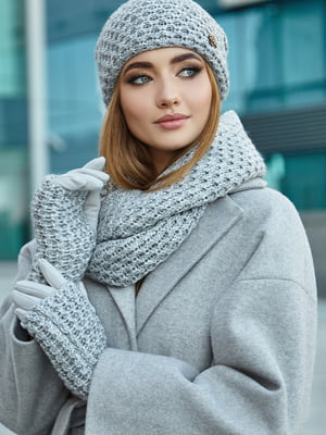Комплект: шапка, шарф і мітенки | 5562968