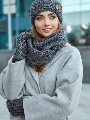 Комплект: шапка, шарф і мітенки | 5562970