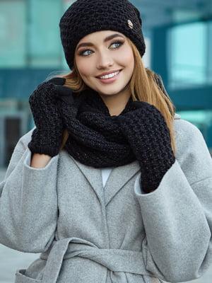 Комплект: шапка, шарф и митенки | 5562972