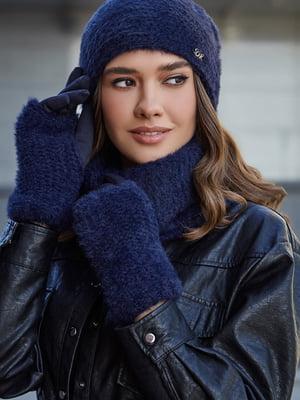 Комплект: шапка, шарф і мітенки | 5651454