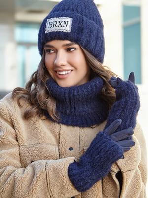 Комплект: шапка, шарф і рукавички | 5651477
