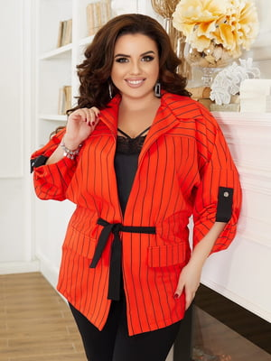 Жакет оранжевого цвета в полоску | 5691079