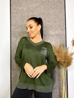 Пуловер кольору хакі | 5691142