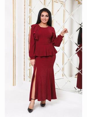 Сукня бордова | 5691167