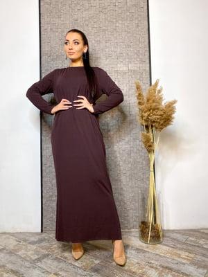 Сукня шоколадного кольору | 5691233
