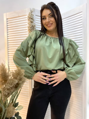 Блуза оливкового кольору | 5691341