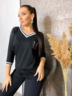 Пуловер чорний | 5691360